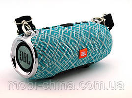 JBL XTREME mini 12 копія, портативна колонка з Bluetooth FM MP3, Mosaic м'ятна з сірим, фото 3