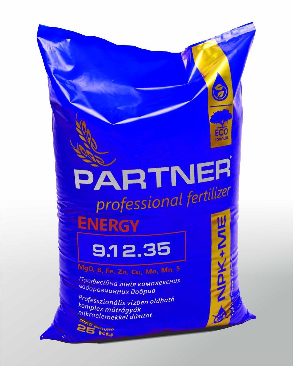 Удобрение PARTNER Energy 9.12.35+АМК+ME - 25 кг