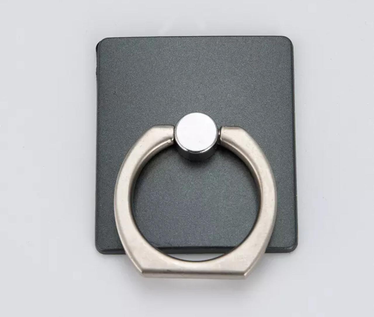 Кольцо-подставка/попсокет для телефона «Чёрный квадрат» стильная
