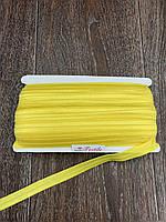 Бейка Стрейчевая 15 мм, 50 ярдов, глянцевая (жёлтый)