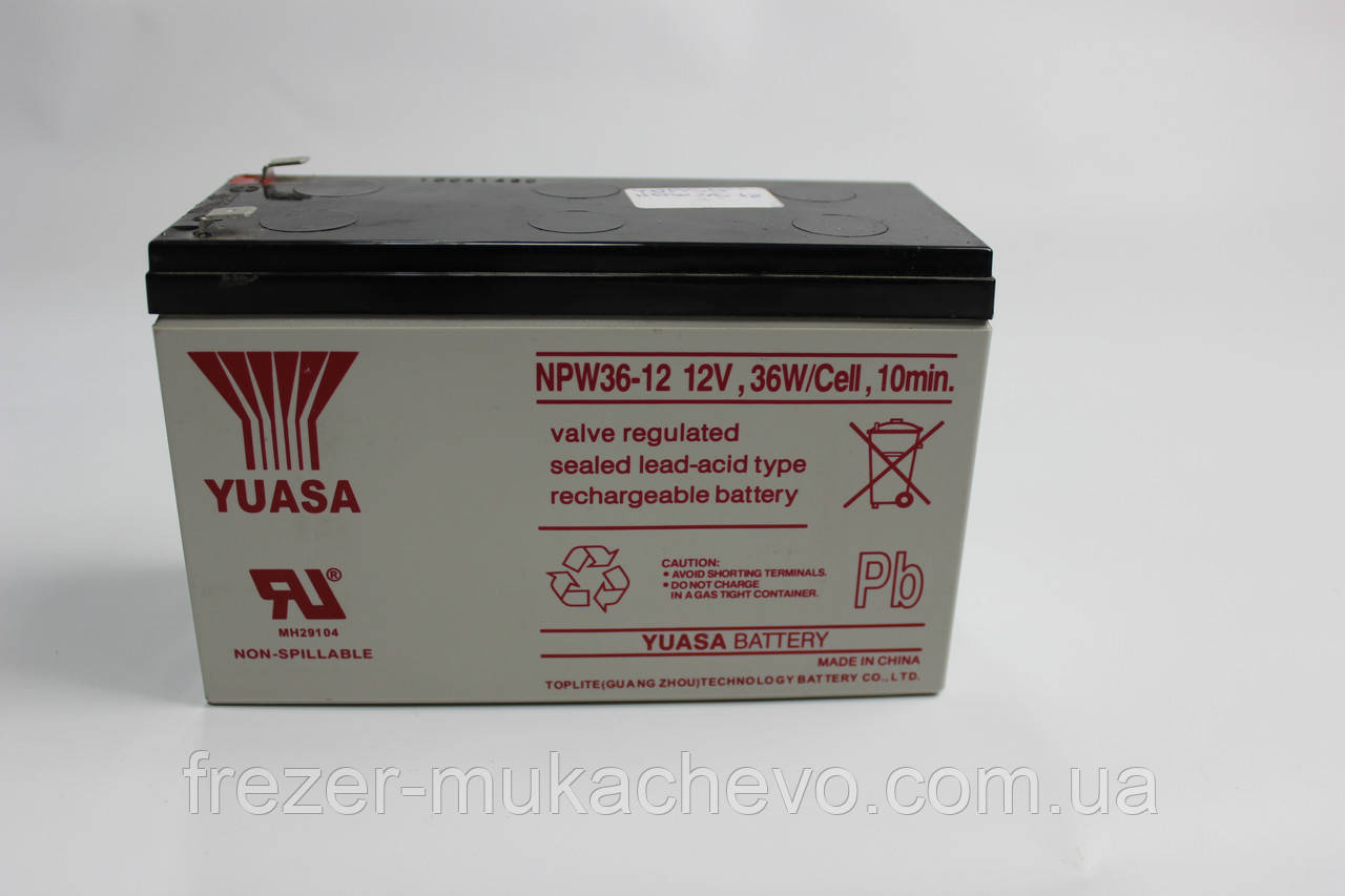 Акумулятор YUASA NPW36-12 12V 36W/Cell 10min