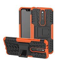 Чехол для Nokia 6.1 Plus / Nokia X6 / TA-1116 противоударный бампер оранжевый