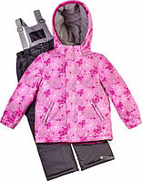 Термокомплект зимний (куртка + полукомбинезон) Baby Line Z95-1-16 Снежинки Розово-серый