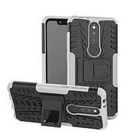 Чехол для Nokia 6.1 Plus / Nokia X6 / TA-1116 противоударный бампер белый