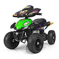 Детский квадроцикл на аккумуляторе M 2403 ALR-5 надувные колеса, мягкое сиденье