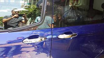 Накладки на ручки (4 шт., нерж.) - Ford Courier 2014+ рр.