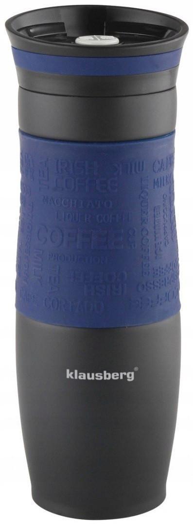 Термокружка Klausberg KB-7102 500мл. Чорно-Синя