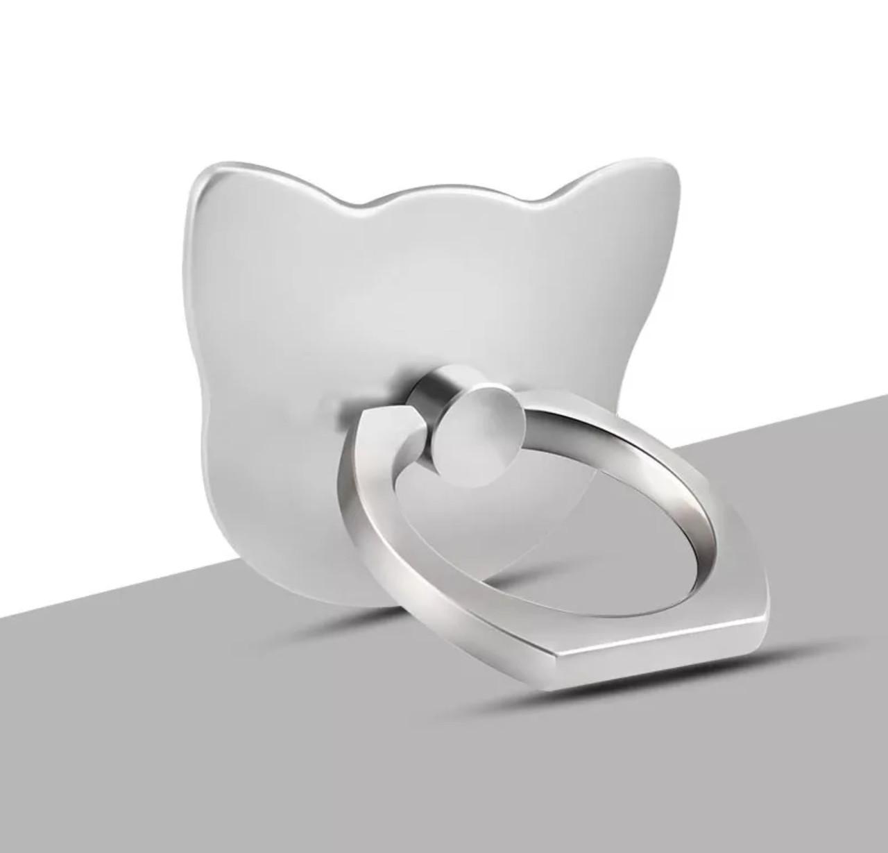 Кольцо-подставка/попсокет для телефона «Серый котик» стильная