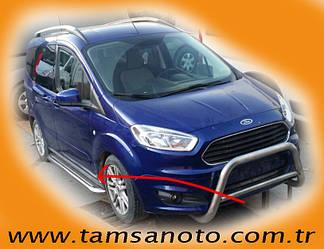Бічні майданчики Premium (2 шт., нерж) - Ford Courier 2014+ рр.