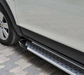 Бічні майданчики X5-тип (2 шт., алюм) - Ford Courier 2014+ рр.