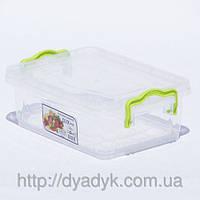 Контейнер для хранения продуктов с зажимами LUX - 1,2л