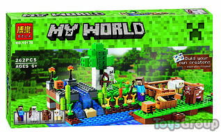 Конструктор Bela My World 10175 (48) Ферма, 262 детали, в коробке