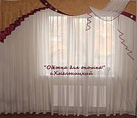 Жесткий ламбрекен стайл Айту бордо, фото 1