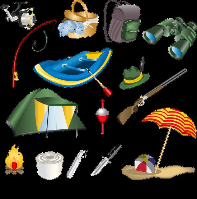 Товары для отдыха, туризма, рыбалки, охоты