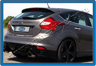 Кромка багажника (Хетчбек, нерж) - Ford Focus III 2011+ и 2015+ гг.