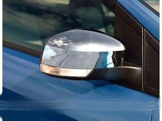 Накладки на зеркала (2 шт, пласт.) - Ford Focus III 2011+ и 2015+ гг.