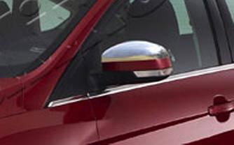 Накладки на зеркала (2 шт, нерж) - Ford Focus III 2011+ и 2015+ гг.