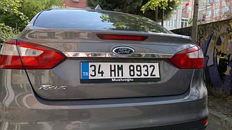 Планка над номером широкая (нерж) - Ford Focus III 2011+ и 2015+ гг.