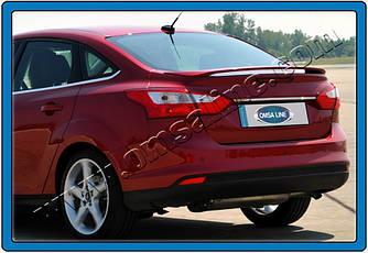 Планка над номером узкая (нерж) - Ford Focus III 2011+ и 2015+ гг.