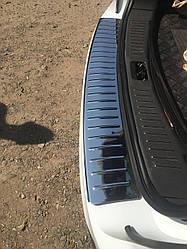 Накладка на задний бампер OmsaLine (нерж.) - Ford Kuga 2008-2013 гг.