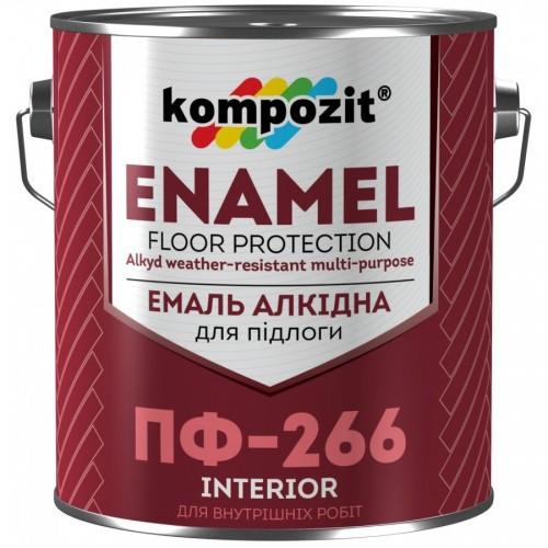 Емаль алкідна для підлоги Kompozit Enamel ПФ-266 2.8 кг Червоно-коричневий