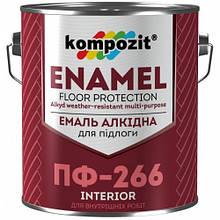 Емаль алкідна для підлоги Kompozit Enamel ПФ-266 0.9 кг Червоно-коричневий