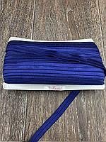 Бейка Стрейчевая 15 мм, 50 ярдов, глянцевая (тёмно синий)