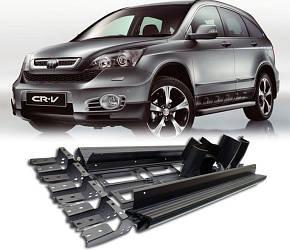 Боковые площадки Niken (2 шт., алюминий) - Honda CRV 2007-2011 гг.