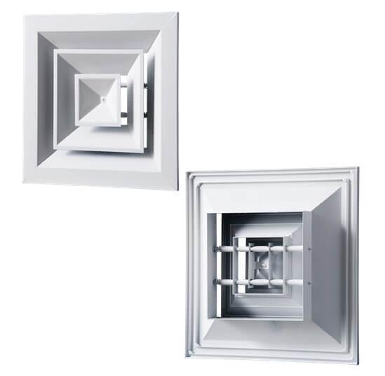 Вентс ДП - диффузоры вентиляционные, потолочные, из алюминиевого профиля