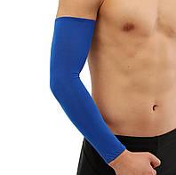 Компресійна захисна пов'язка на ліктьовий суглоб «Recovery» синій (1 шт)