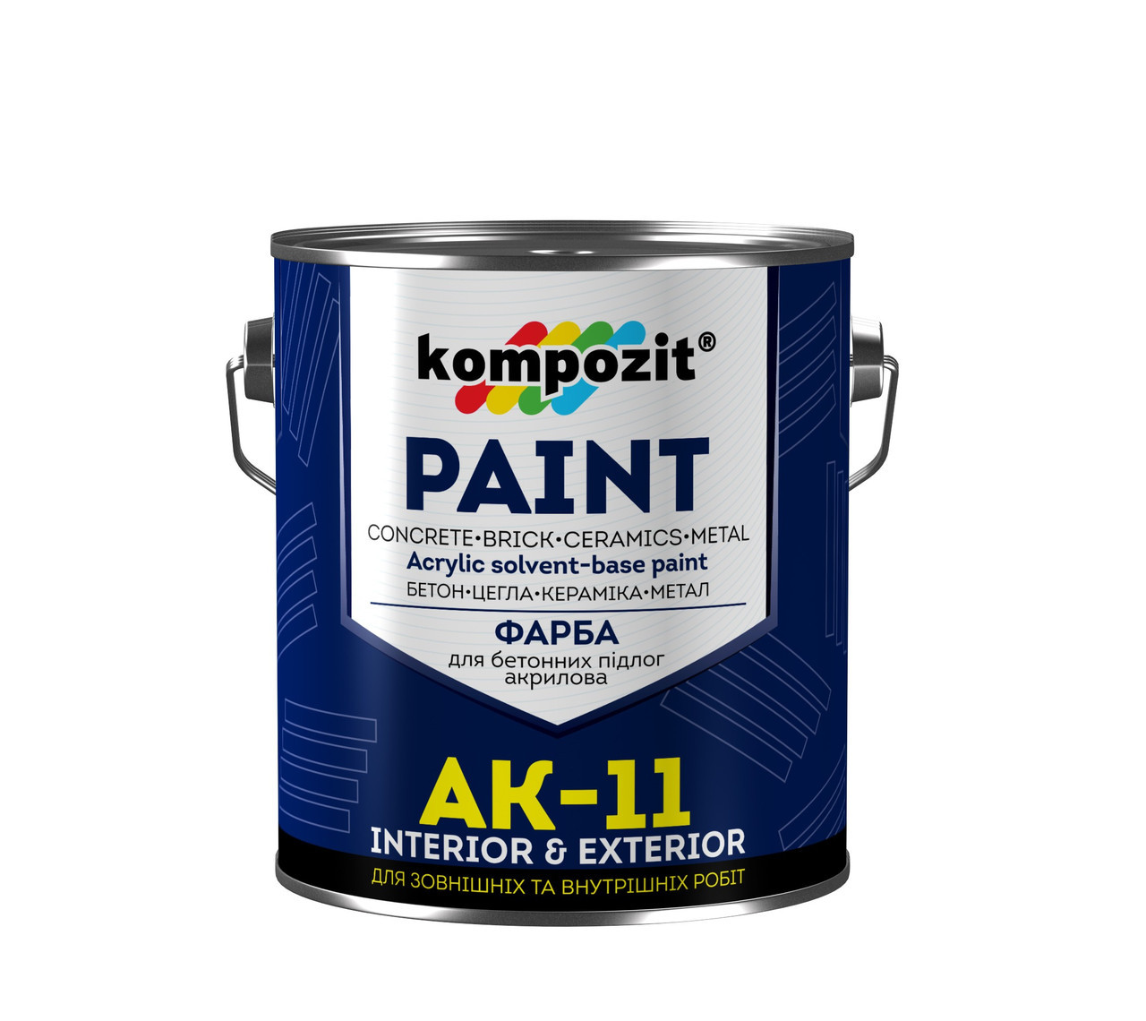 Фарба акрилова для бетонних підлог Kompozit Paint АК-11 2.8 кг Білий