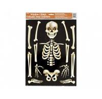 Наклейка на окно Скелет 88062