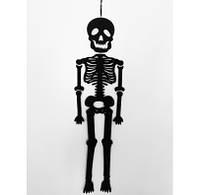 Декорация на стену Скелет черный 218