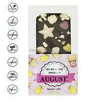 Натуральный шоколад с соленым попкорном и медовой грушей, ТМ August