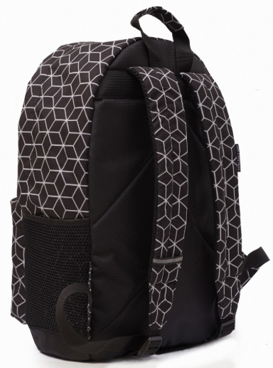 Рюкзак чёрный GARD BACKPACK-2  geometrik print