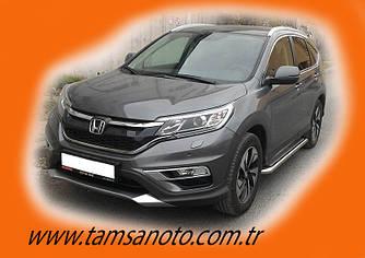 Боковые площадки Premium (2 шт, нерж) - Honda CRV 2017+ гг.