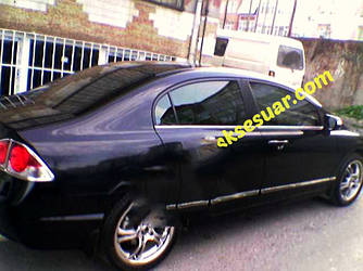 Нижняя окантовка стекол (6 шт, нерж) - Honda Civic Sedan VIII 2006-2011 гг.
