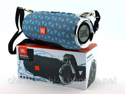 JBL XTREME mini 12 копия, портативная колонка с Bluetooth FM MP3, серая с бирюзой, фото 2