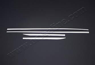 Молдинг (4 шт, нерж) - Hyundai I-10 2017+ гг
