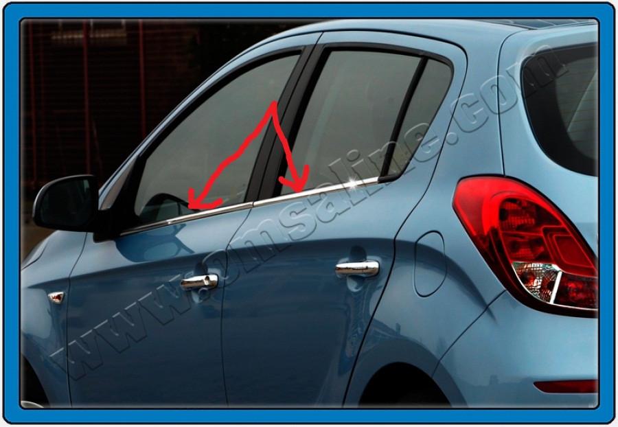 Нижние молдинги стекол (4 шт., нерж) - Hyundai I-20 2012-2014 гг.