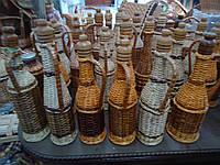 Бутылки отплетенные лозой 0.75 л