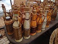 Бутылки отплетенные лозой - 1 л