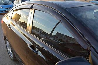 Ветровики (4 шт, Cobra) - Hyundai Accent Solaris 2011-2017 гг.