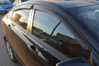 Вітровики (4 шт, Cobra) - Hyundai Accent Solaris 2011-2017 рр.