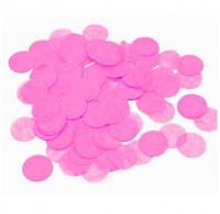 Конфетти кружечки розовые 23мм 02134
