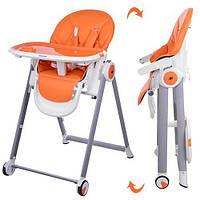 Детский стульчик для кормления EL Camino MOON M 3550-7 Оранжевый intM 3550-7, КОД: 123635