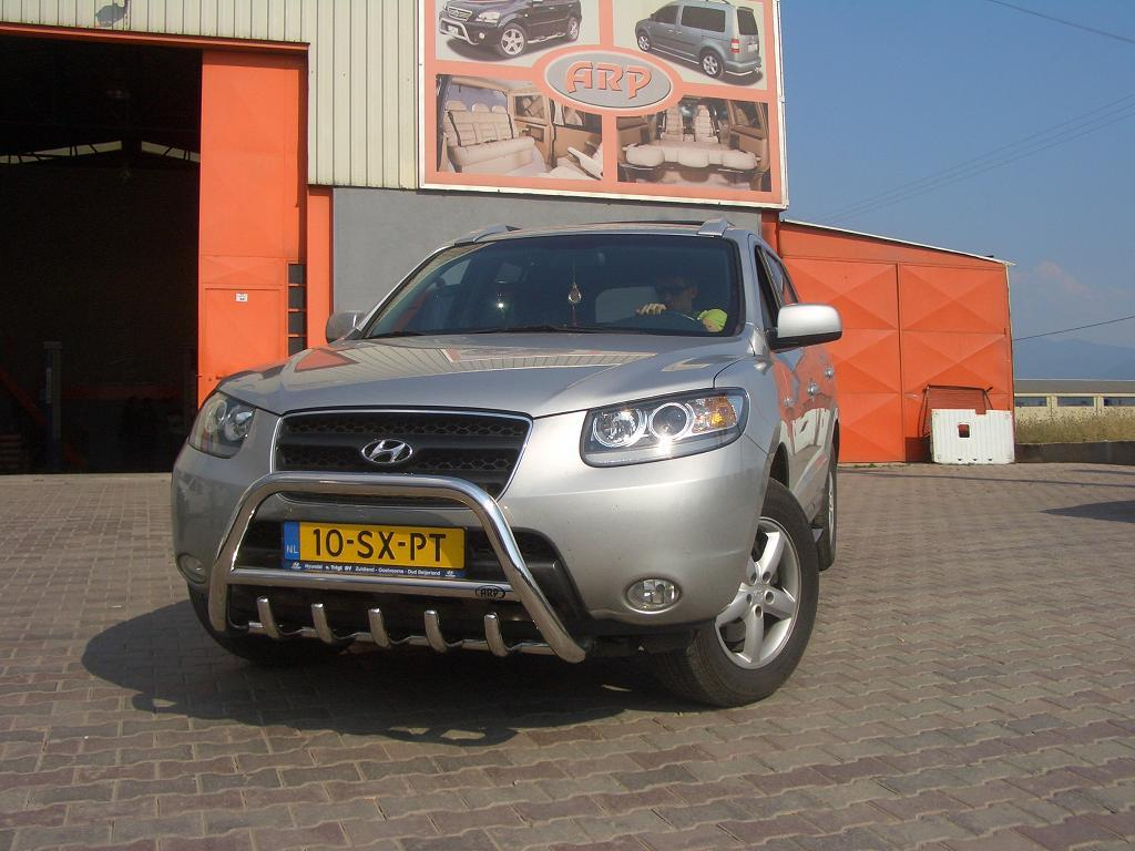 Кенгурятник WT003 (нерж.) - Hyundai Santa Fe 2 2006-2012 гг.