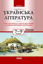 Ранок 7-9 клас Українська література Доля Стислий виклад змісту всіх творів Дайджест