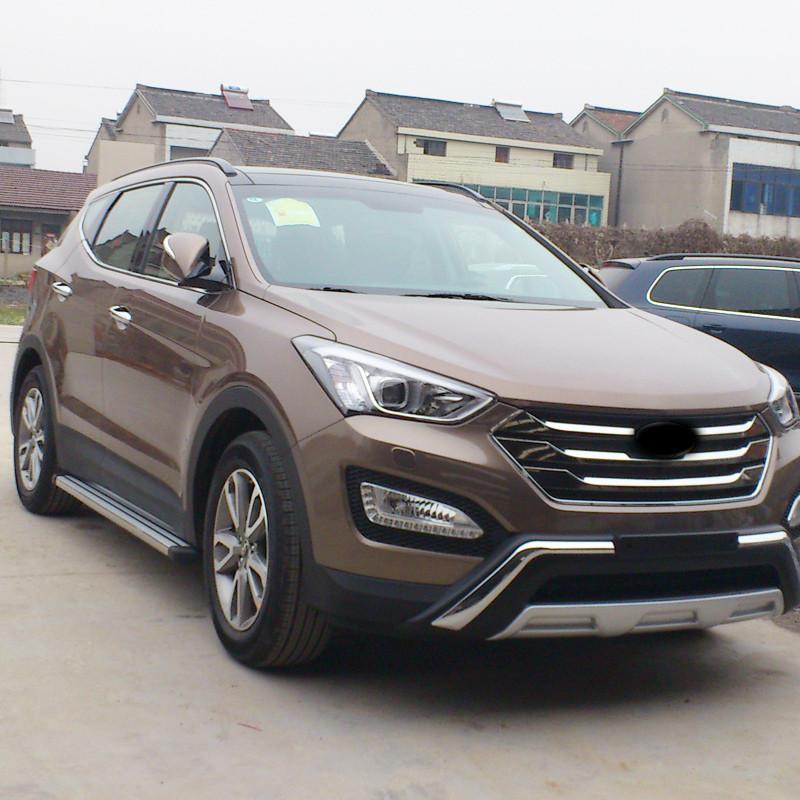 Передняя накладка (2012-2016) - Hyundai Santa Fe 3 2012-2018 гг.