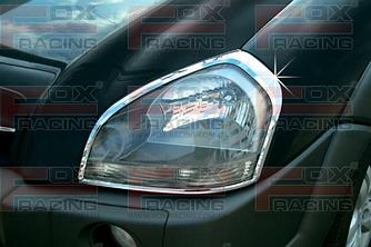 Накладки на фари (2 шт., пласт) - Hyundai Tucson JM 2004+ рр.